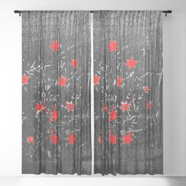 Red star Sheer Curtain