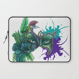 Mask of the Peacock Laptop Sleeve