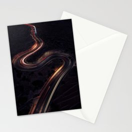 Winding Roads By Night Stationery Cards