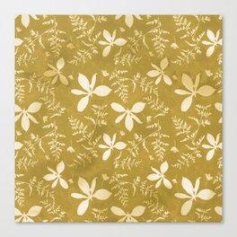 Sun Print Floral Canvas Print