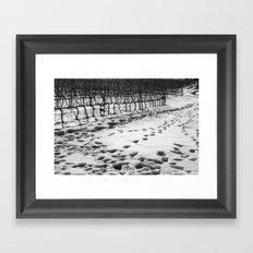 Snowy Vineyard Framed Art Print