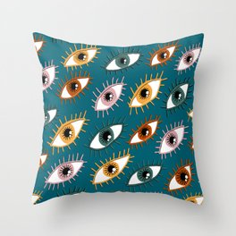 Eyes Limited Palette Pattern Throw Pillow