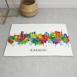 Karachi Pakistan Skyline Rug