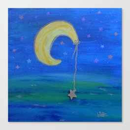The Moon And Its Star Canvas Print