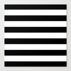 Stripe Black & White Horizontal Canvas Print