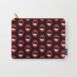 Red Lips (Black) Carry-All Pouch