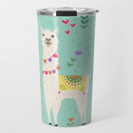 Festive Llama Travel Mug