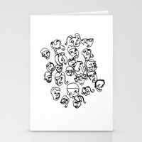talking heads Stationery Cards featuring Talking Heads by Melanie Carter
