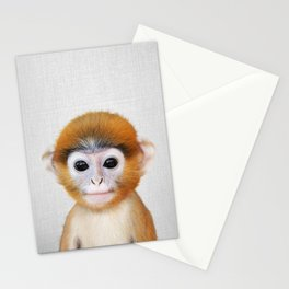 Baby Monkey - Colorful Stationery Cards