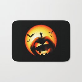 Smile Of Scary Pumpkin Bath Mat