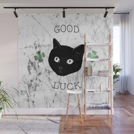 Good Luck Cat Wall Mural
