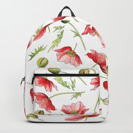 Red Poppies, Illustration Backpack