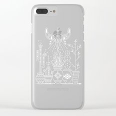 Santa Fe Garden – White Ink on Black Clear iPhone Case
