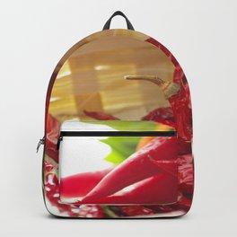 Hot chili pepper for kitchen design Backpack
