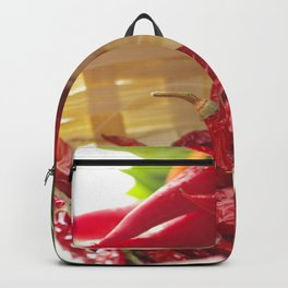 Hot chili pepper for kitchen design Backpack