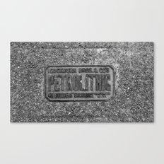 Petrolithic B&W Canvas Print