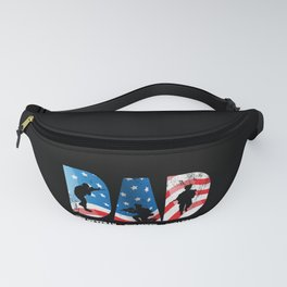 Dad The Veteran The Myth The Legend Gift for Hero Soldier graphic Fanny Pack
