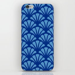 Navy and Turquoise Deco Fan iPhone Skin