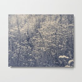 Come Into the Wilds -- Inky Metal Print