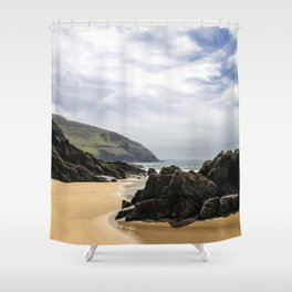 Peaceful sand and ocean Shower Curtain