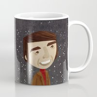 carl sagan Mugs featuring Carl Sagan by Stephanie Fizer Coleman
