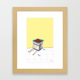 Pudding Boy Framed Art Print