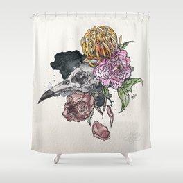 Bird Skull Garden Shower Curtain