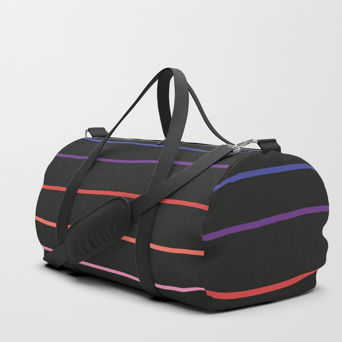 Classic Abstract Minimal Rainbow Retro Summer Style Stripes #4 Duffle Bag
