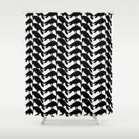 crow Shower Curtains featuring Crow by Emmanuelle Ly