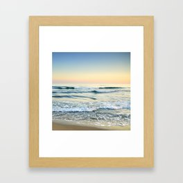 Serenity sea. Vintage. Square format Framed Art Print