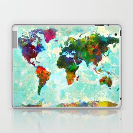 Abstract Map of the World Laptop & iPad Skin