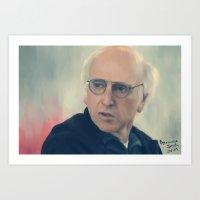 larry david Art Prints featuring Larry David by Annarose Naomi