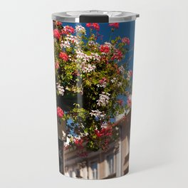 Pink and red Ivy leaved geranium Travel Mug