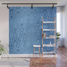 Lost in Dots (air & water blues) Wall Mural