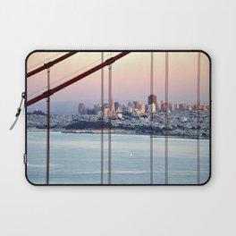 SAN FRANCISCO & GOLDEN GATE BRIDGE AT SUNSET Laptop Sleeve