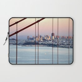 SAN FRANCISCO & GOLDEN GATE BRIDGE AT SUNSET Laptop Sleeve