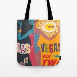 Vintage Las Vegas Poster Tote Bag