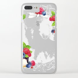 Berries Cake Wreath 01 Clear iPhone Case