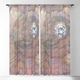 The Diamond Story on Planet Earth Sheer Curtain