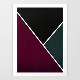 Noir Series - Red & Forest Art Print