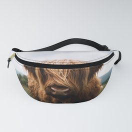 Scottish Highland Cattle in Scotland Portrait II Fanny Pack