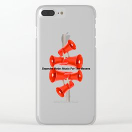 """Concept Album Cover Tribute for DM """"Music For The Masses"""" Clear iPhone Case"""