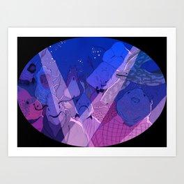 A fishy rave Art Print