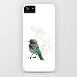 Grumpy Junco Bird iPhone Case