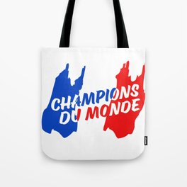 World Champions French Soccer Football Tote Bag