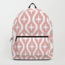 Mid century Modern Bulbous Star Pattern Dusty Rose Backpack