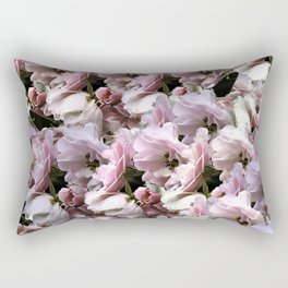 Pink Roses floral pattern Rectangular Pillow
