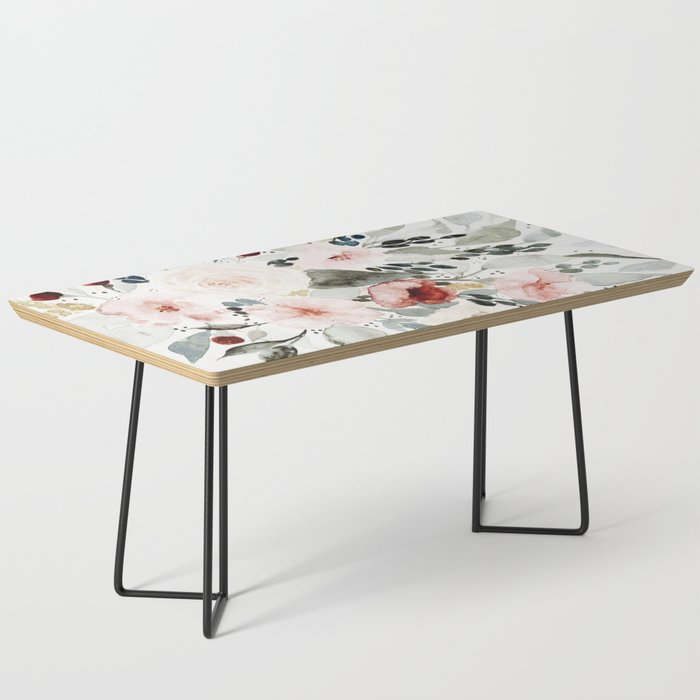 Loose Watercolor Bouquet Coffee Table