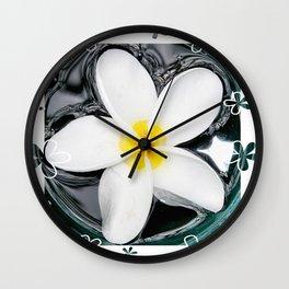 Plumeria In Water Wall Clock