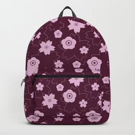 Sakura blossom - burgundy Backpack